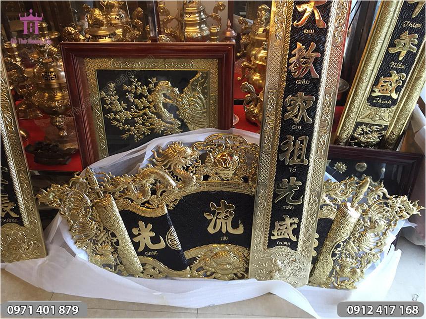 Bộ Cuốn Thư Câu Đối Đồng Vàng 1m55