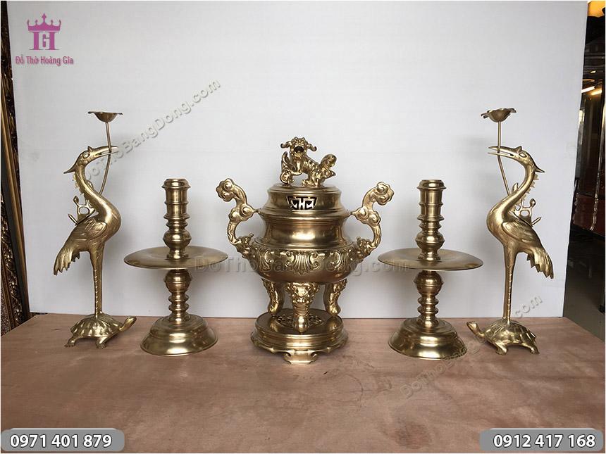 Ngũ Sự Bằng Đồng Vàng Hoa Sòi 60cm