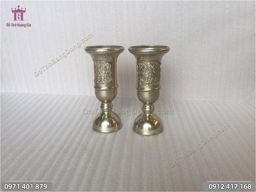 Ống Đựng Hương Bằng Đồng Vàng 23cm